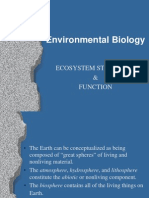 ENVIRONMENTAL BIOLOGY (TKA3104)  LECTURE NOTES -2 Ecosystem