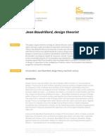 BAUDRILLARD-DESIGNTHEORIST