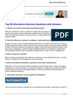 50 Frequently Asked Informatica Interview Questions With Answers