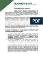 Pronunciamiento de Icomos Peru