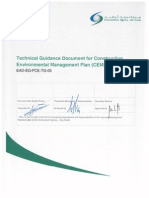 Technical Guidance Document for Construction Environmental Management Plan (CEMP)