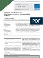 Global Health Governance 2015 Kickbusch Reddy