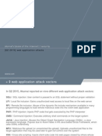 Slideshow Q2 2015 Web Application Attacks and WordPress Vulnerabilities From StateoftheInternet