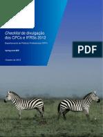 Checklist de Divulgacao Dos CPCs 2012