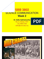 COMMUNICATION SCIENCE (SBB3802) LECTURE NOTES - Week 2