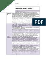 instructional plan phase i