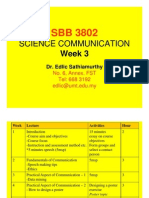 COMMUNICATION SCIENCE (SBB3802) LECTURE NOTES - Week 3