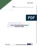 (SNI-1974-2011) Cara Uji Tekan Beton Dengan Benda Uji Silinder