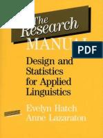 The Research Manual-Hatch&Larazaton 1991