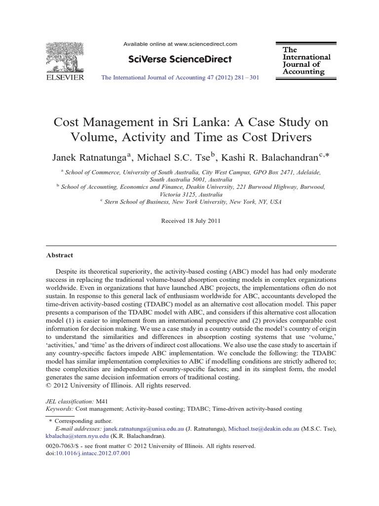 tdabc case study
