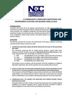 Enforcement- 2015Q3 Activities Summary