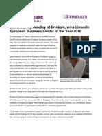 David Murray Hundley, Drinksin wins LinkedIn's European Business Leader of the Year