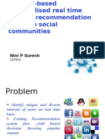 Interest based Social recommender