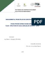 Studiu Privind Interacțiunea Seismică Fluid – Structură În Cazul Barajelor Arcuite - DFSI