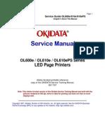 Okidata Ol 600/610e Service Manual