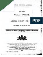 Gold Coast Colony Report