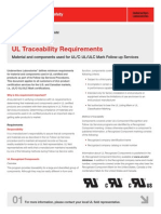 UL Traceability Requirements