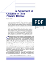 Adjustment to Divorce