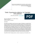 Elena Lopez. Experimentos Plasticos. La Cianotipia Sobre Polester