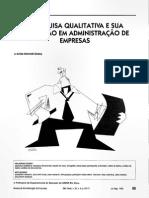 A Pesquisa Qualitativa e Sua Utilizacao Em Administracao de Empresas