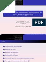 Ch 1 Householder Schur SVD Application