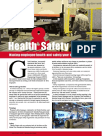 Health & Safety - Making employee health and safety your highest priority