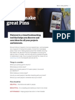 How to Make Great Pins Guide En