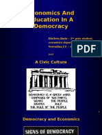 Economics and Education in a Democracy