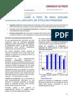 Sistemul Educational 2015 România