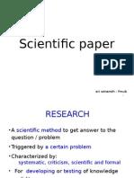 1. Scientific Writing