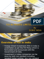 FDI in Private Limited Company