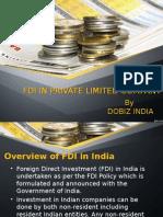 FDI in Private Limited Company
