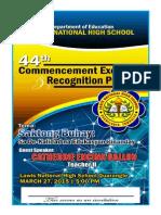 GRADUATION PROGRAM 2015