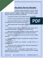 Distance Education Survey Results