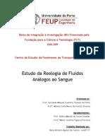 Reologia de Fluidos e Suspensões de Partículas análogas ao Sangue