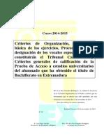 Criterios Generales 10.12.2014 Uex