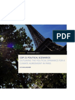 E3G COP21 Political Scenarios - Outlining the Political Dynamics for a Climate Agreement in Paris