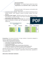 human resource notes planning recruitment