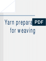 Yarn Preparation for Weaving I
