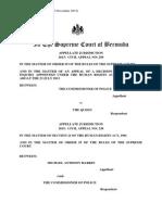 Appeal Judgment Commissioner of Police v Harkin Bermuda Nov 24 2015