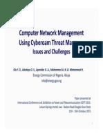 Computer Computer Network Management Using Cyberoam Threat Manager