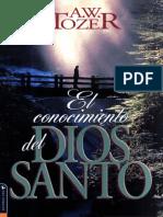A w Tozer - El Conocimiento Del Dios Santo