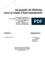To Study and Quantify the Bullwhip Effect in Supply Chain Management