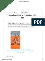 Panchaloha ( Five Metals) Maha Meru.pdf