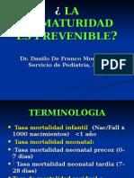 Prematuridad Prevenible Marzo 24 06 Cais