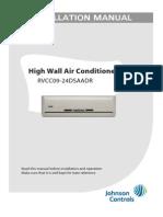 Manual Split Inverter RCVC09-24DSAADR