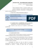 Unidade v - Da Posse - Acoes Possessorias Atipicas