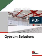 Gypsum Solutions 2014