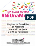Femicidios en Argentina Post 3 de Junio 2015
