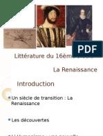 Littérature Et Histoire Du 16ème Siècle